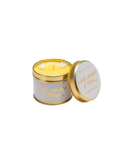 Bomb Cosmetics White Amber & Musk Tinned Candle
