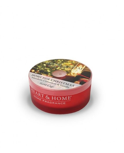 Heart & Home Αρωματικό Κερί σε Κυπελλάκι Home For Christmas 38g