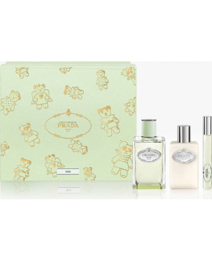 Prada Les Infusions Iris Set Eau de Parfum 100ml & Body Lotion 100ml & Roll On 10ml