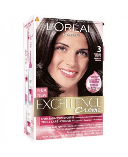 L'Oreal Excellence Creme 3 Καστανό Σκούρο 48ml