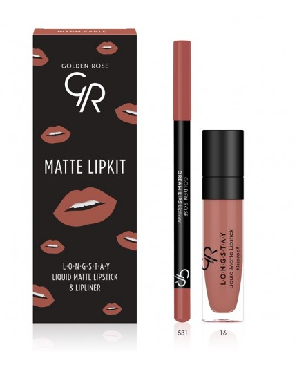 Golden Rose Matte LipKit Warm Sable