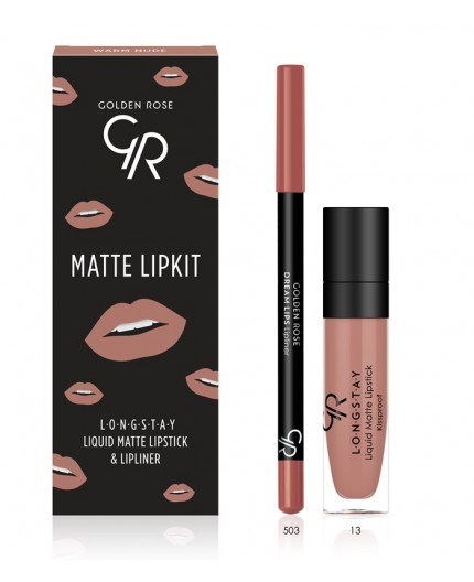 Golden Rose Matte LipKit Warm Nude