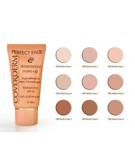 Coverderm Perfect Face Αδιάβροχο Make Up No 2