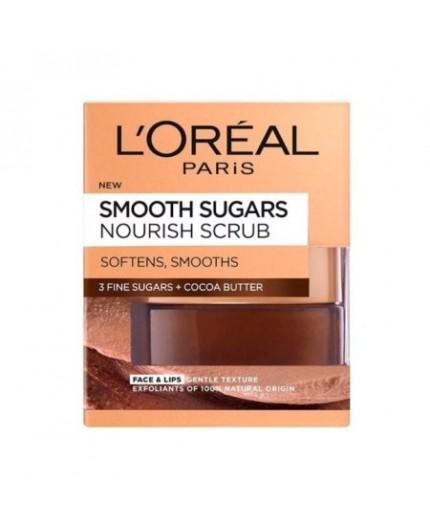 L'Oreal Paris Smooth Sugars Nourish Face & Lip Scrub 50ml