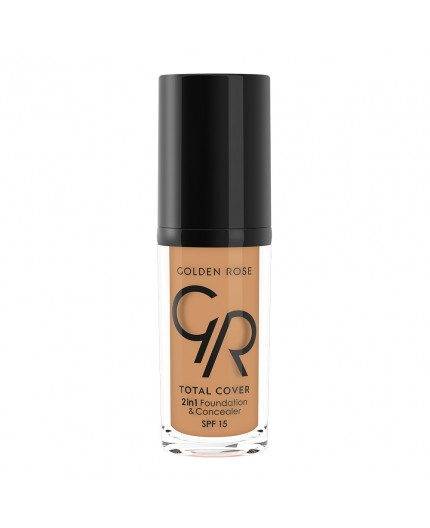 Golden Rose Total cover 2 in1 Foundation & Concealer Spf15